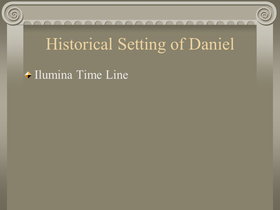 Historical Setting of Daniel Ilumina Time Line