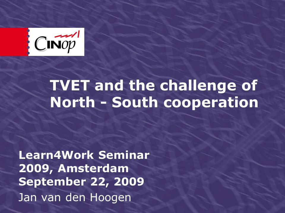 Presentation in five steps Comparing TVET in South and North: some reflections).