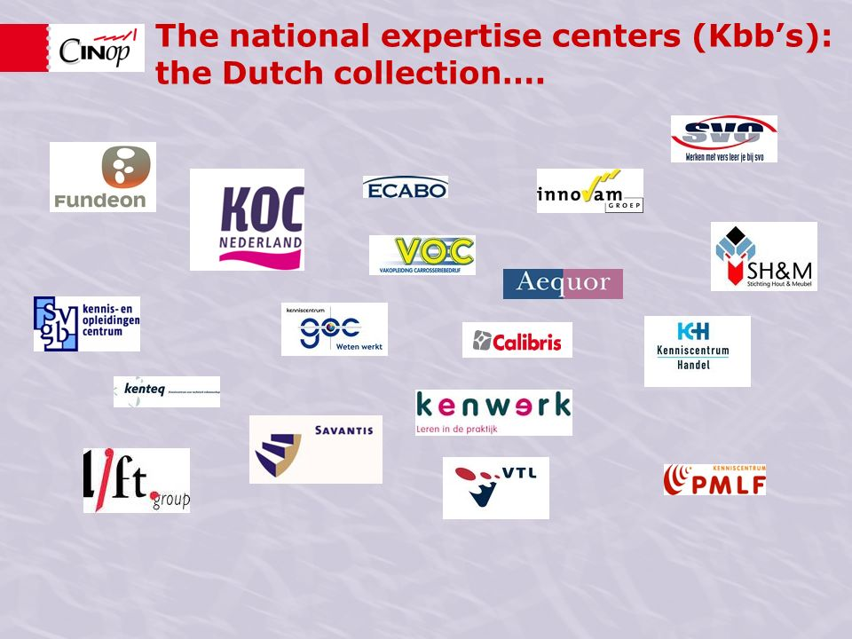 The national expertise centers (Kbbs): the Dutch collection….