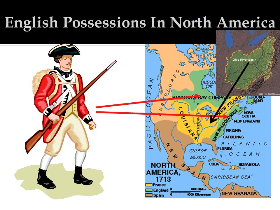 French in North America British in North America Native Americans were caught in the middle.