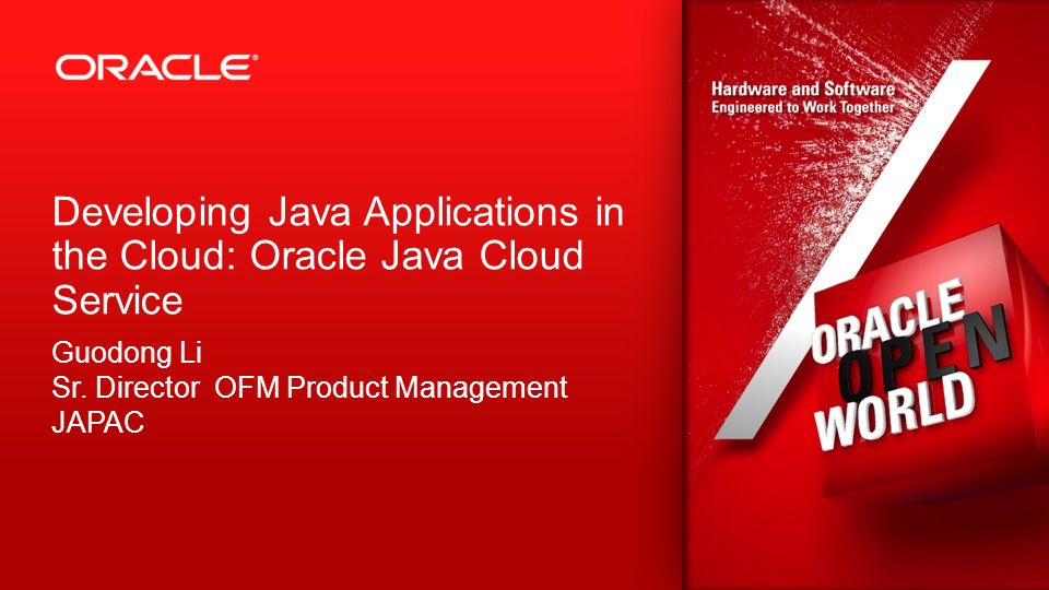 Copyright © 2012, Oracle and/or its affiliates. All rights reserved.Oracle Restricted 2 Developing Java Applications in the Cloud: Oracle Java Cloud S