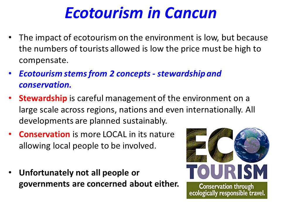 Homework Research one sustainable initiative currently being used in Cancun and answer the following question: Using a named initiative, explain how it is being used in an area (you have studied) to move towards a more sustainable future.