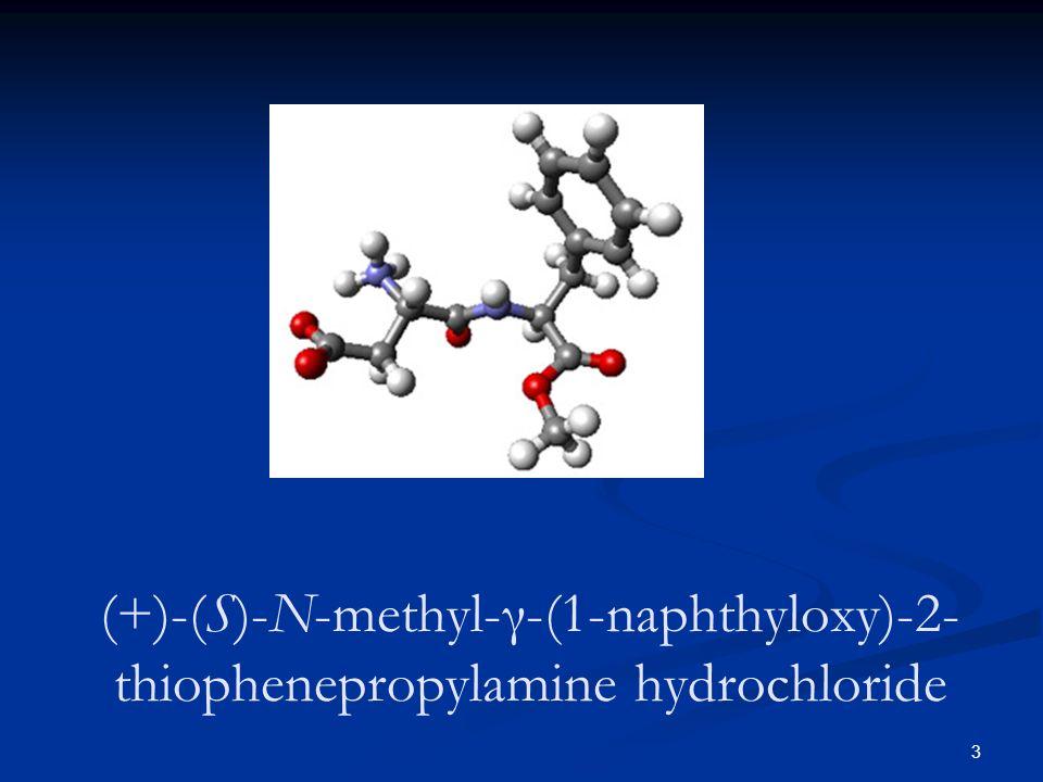 3 (+)-(S)-N-methyl-γ-(1-naphthyloxy)-2- thiophenepropylamine hydrochloride