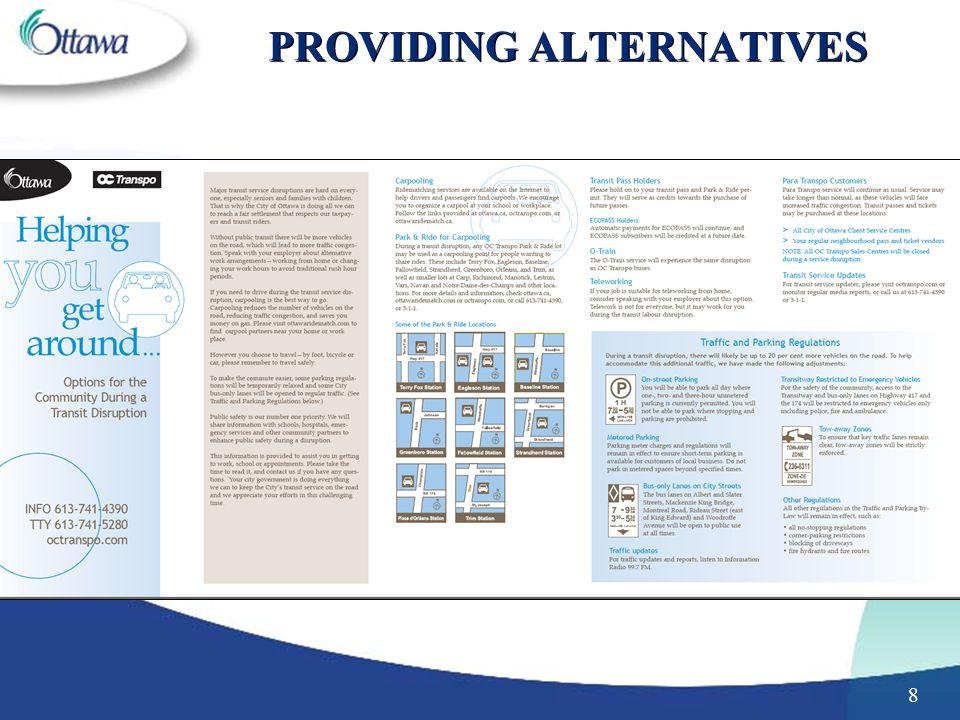 8 PROVIDING ALTERNATIVES