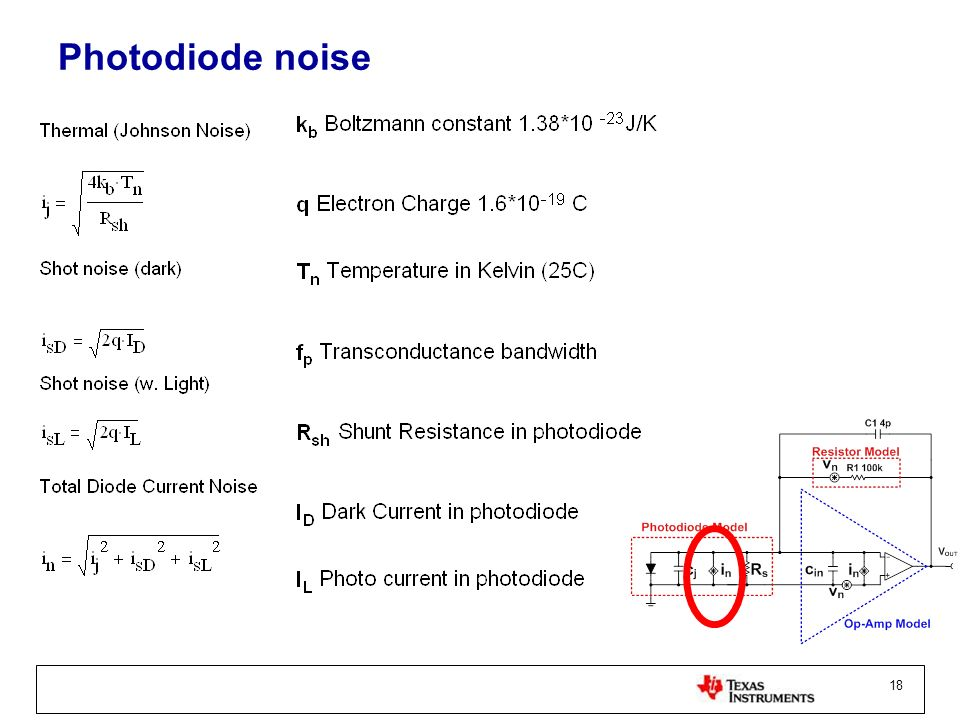 18 Photodiode noise