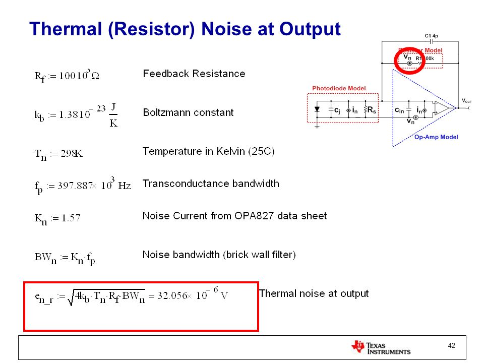 42 Thermal (Resistor) Noise at Output