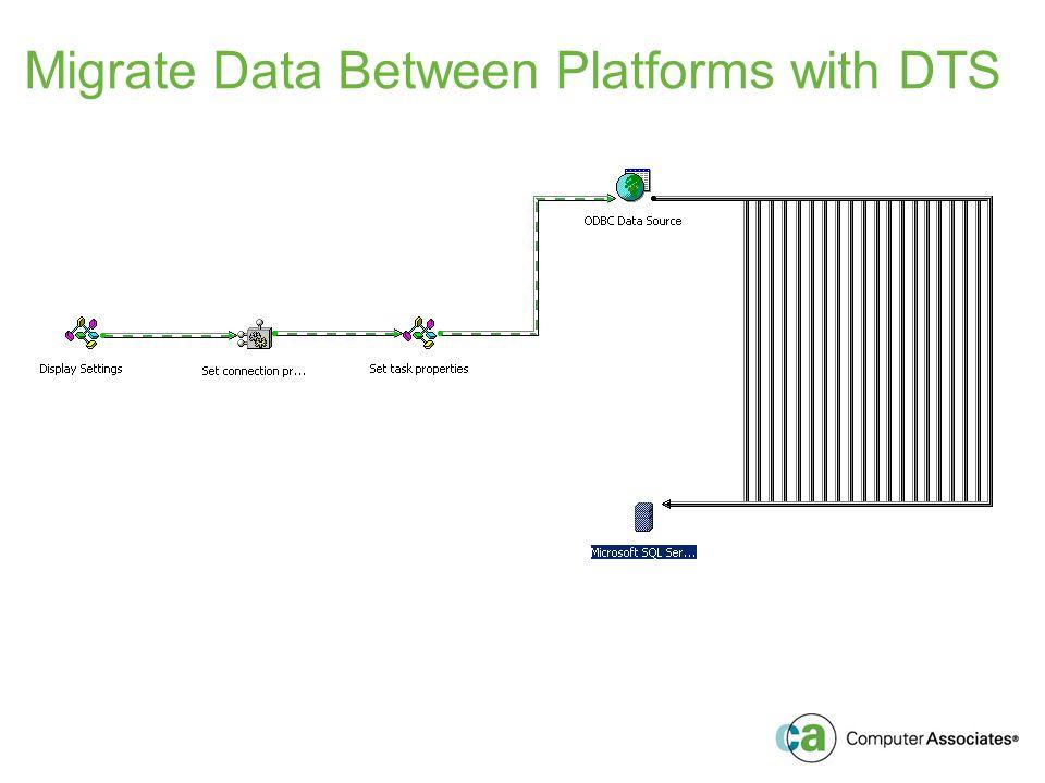 Migrate Data Between Platforms with DTS