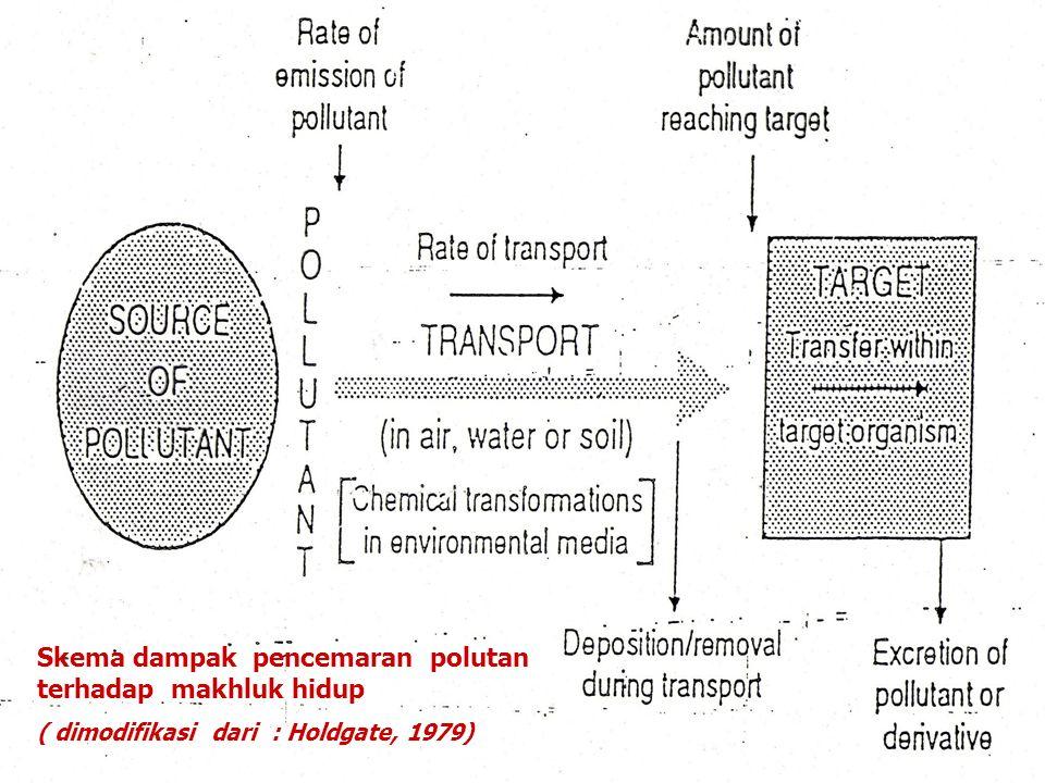 II. DINAMIKA POLUTAN DI DALAM EKOSISTEM Mekanisme kerja suatu polutan/ zat terhadap suatu organ sasaran pada umumnya melewati suatu rantai reaksi yang