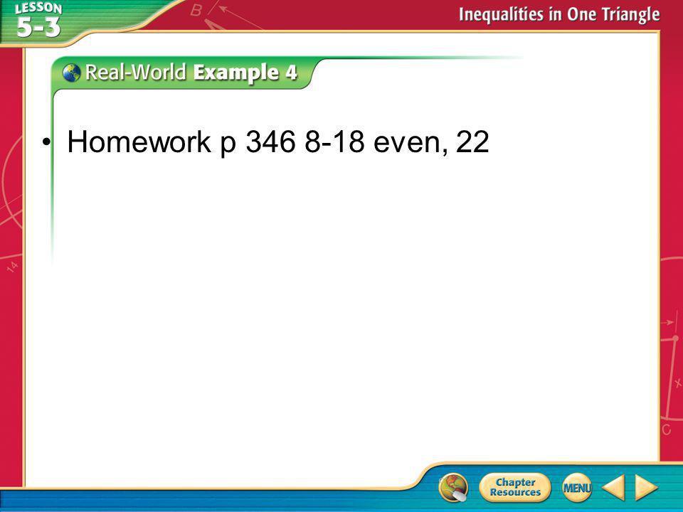 Homework p 346 8-18 even, 22
