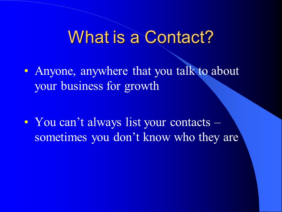 What is a Contact.