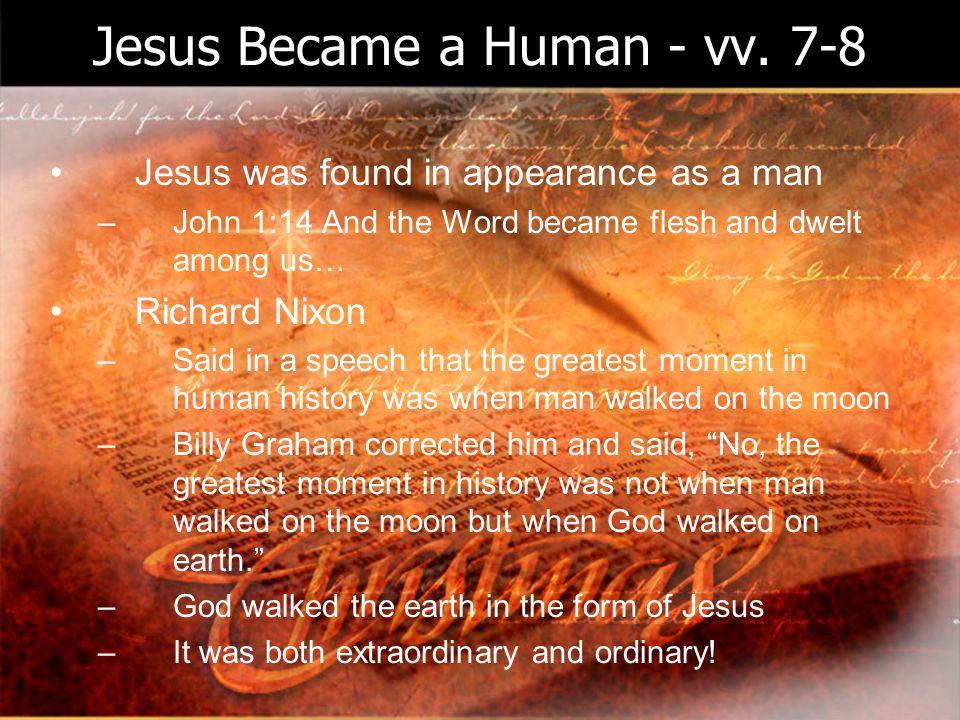 Jesus Became a Human - vv.