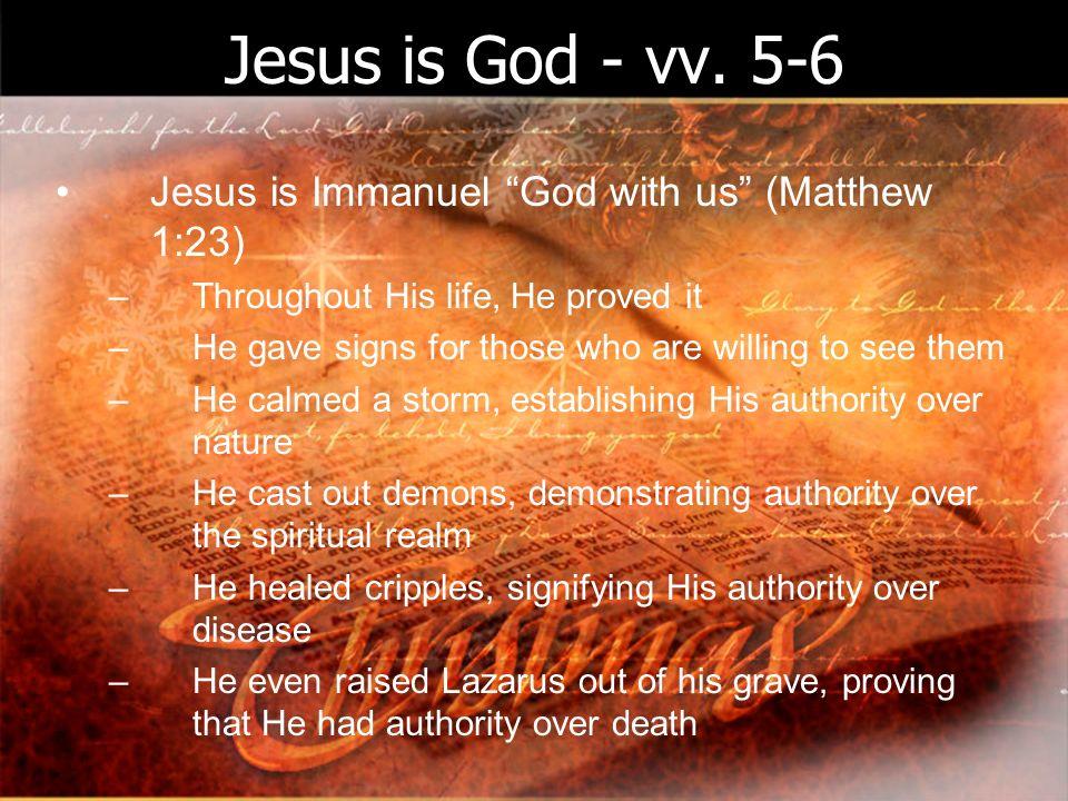Jesus is God - vv.