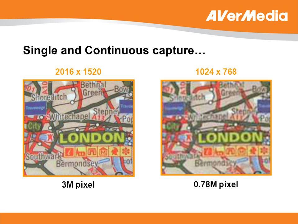 2016 x 1520 3M pixel 1024 x 768 0.78M pixel Single and Continuous capture…