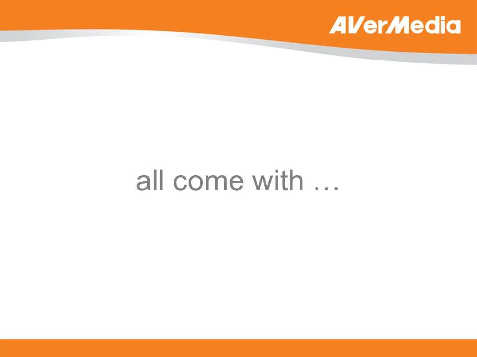 all come with …