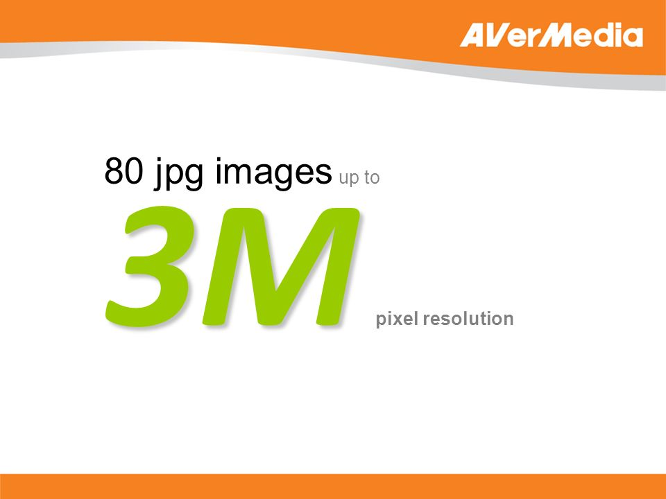 3M 80 jpg images up to 3M pixel resolution