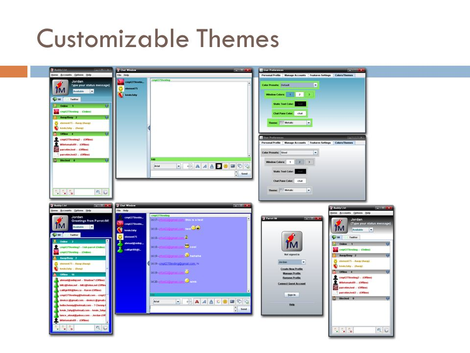 Customizable Themes
