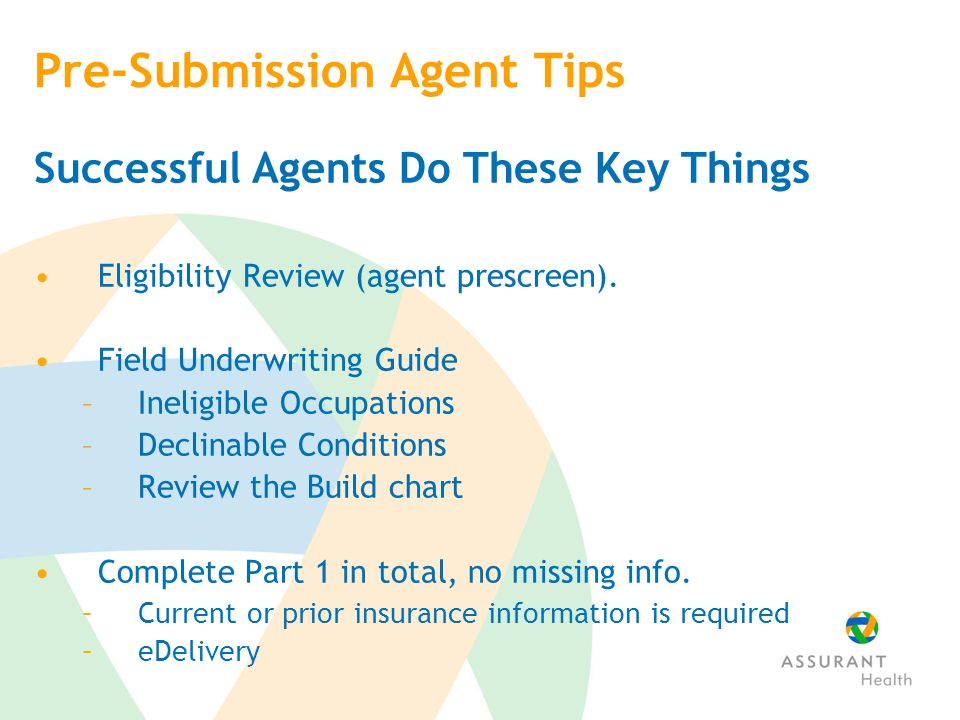 Pre-Submission Agent Tips Successful Agents Do These Key Things Eligibility Review (agent prescreen).
