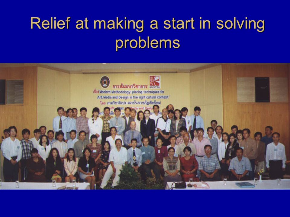 Relief at making a start in solving problems
