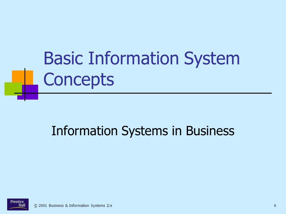 © 2001 Business & Information Systems 2/e7 What is an Information System.