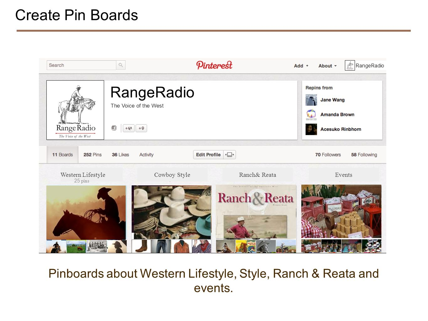 Create Pin Boards RangeRadio The Voice of the West RangeRadio Western Lifestyle 25 pins Cowboy StyleRanch& Reata Events Pinboards about Western Lifestyle, Style, Ranch & Reata and events.
