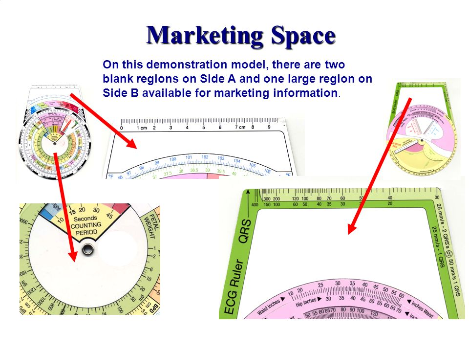 Marketing Space On this demonstration model, there are two blank regions on Side A and one large region on Side B available for marketing information.