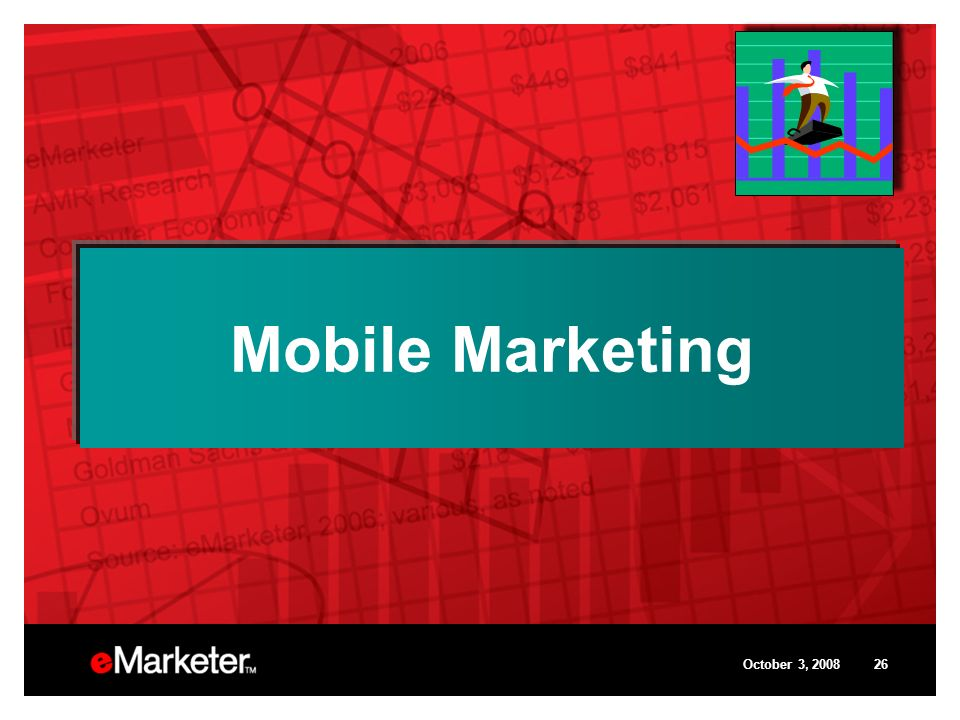 October 3, 200826 Mobile Marketing