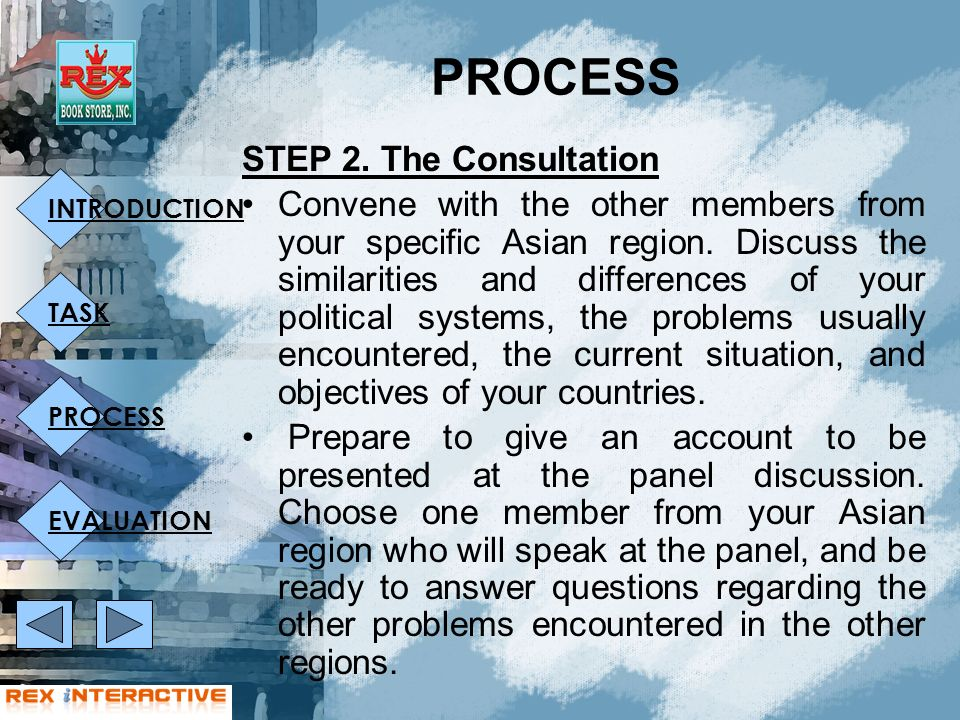 INTRODUCTION TASK PROCESS EVALUATION STEP 2.