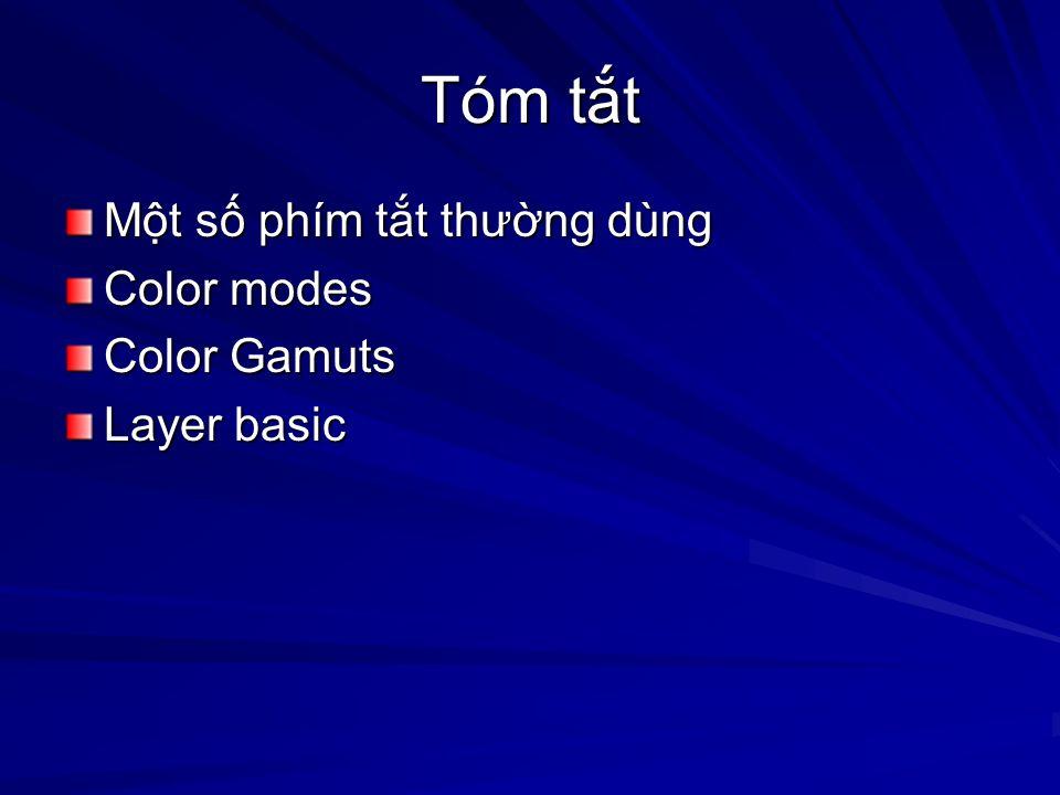 Tóm tt Mt s phím tt thưng dùng Color modes Color Gamuts Layer basic