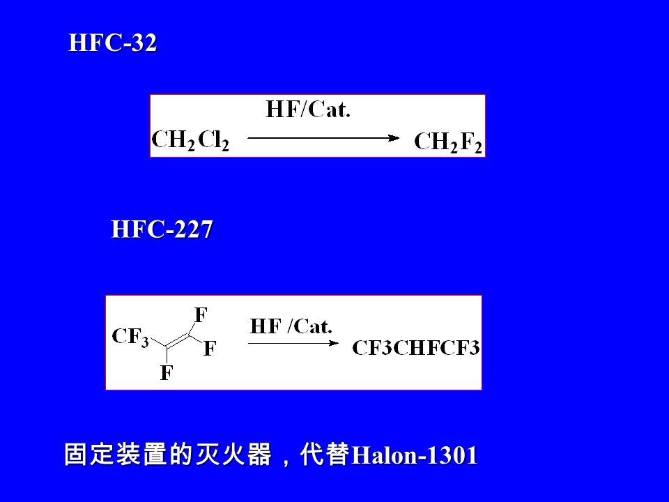 HFC ODP=0 GWP low HFC ODP=0 GWP low HFC-134a CF 3 CFH 2 HFC-134a CF 3 CFH 2