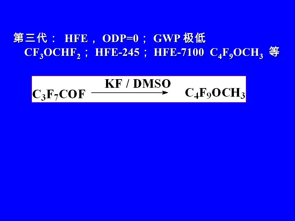 HFC-227 HFC-227 HFC-32 Halon-1301 Halon-1301