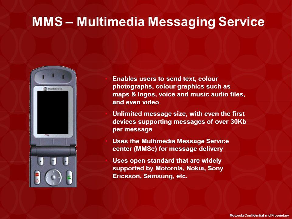 EMS Rev 4 MT and MO w/concatenation Content Forward Management Tie ringer tones to phonebook EMS Rev 5a Enhanced Graphics and Sounds (scalability) Com
