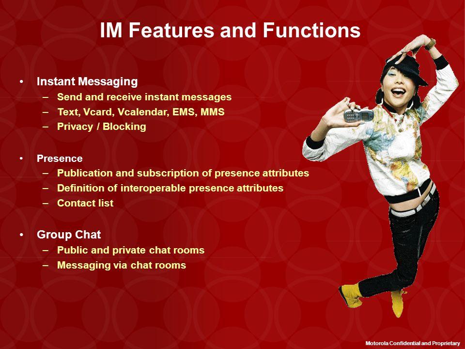 Mobile Network Operator IM Server IM Desktop Clients IM Client Existing SMS and WAP Handsets Operator Billing System Instant Messaging Solution Overvi
