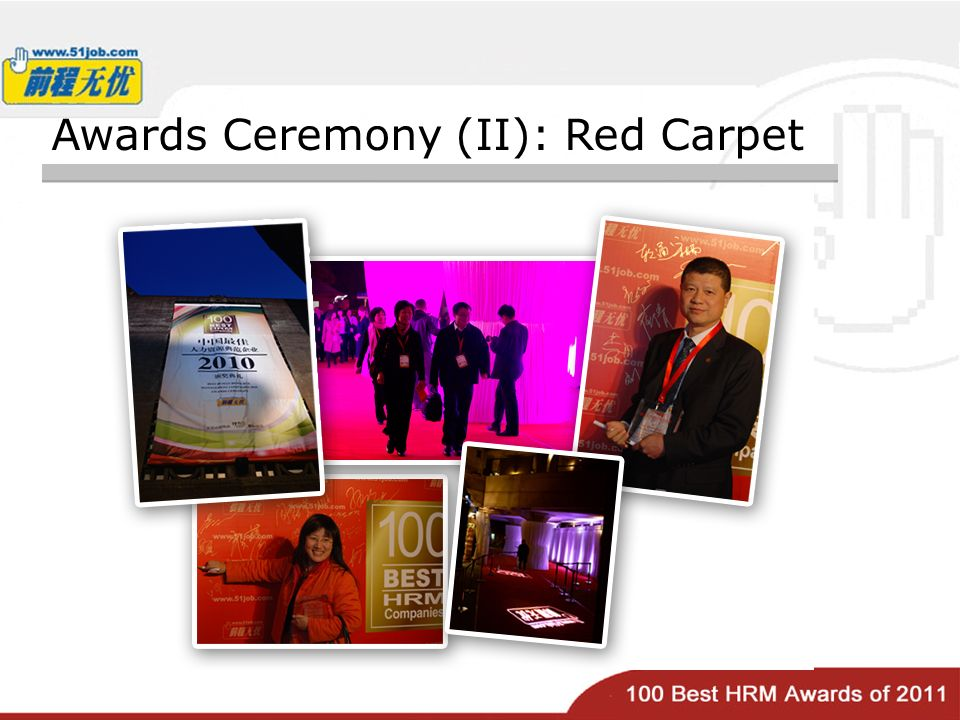 Awards Ceremony (II): Red Carpet