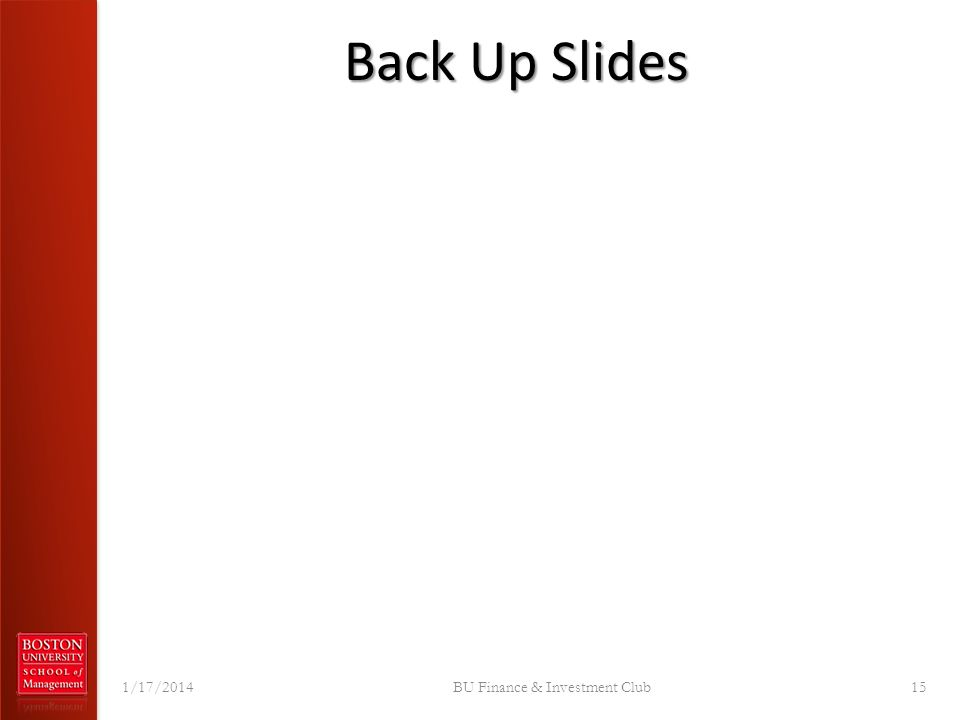 Back Up Slides 1/17/2014BU Finance & Investment Club15