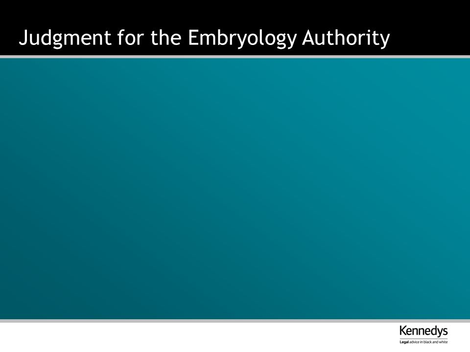 Judgment for the Embryology Authority