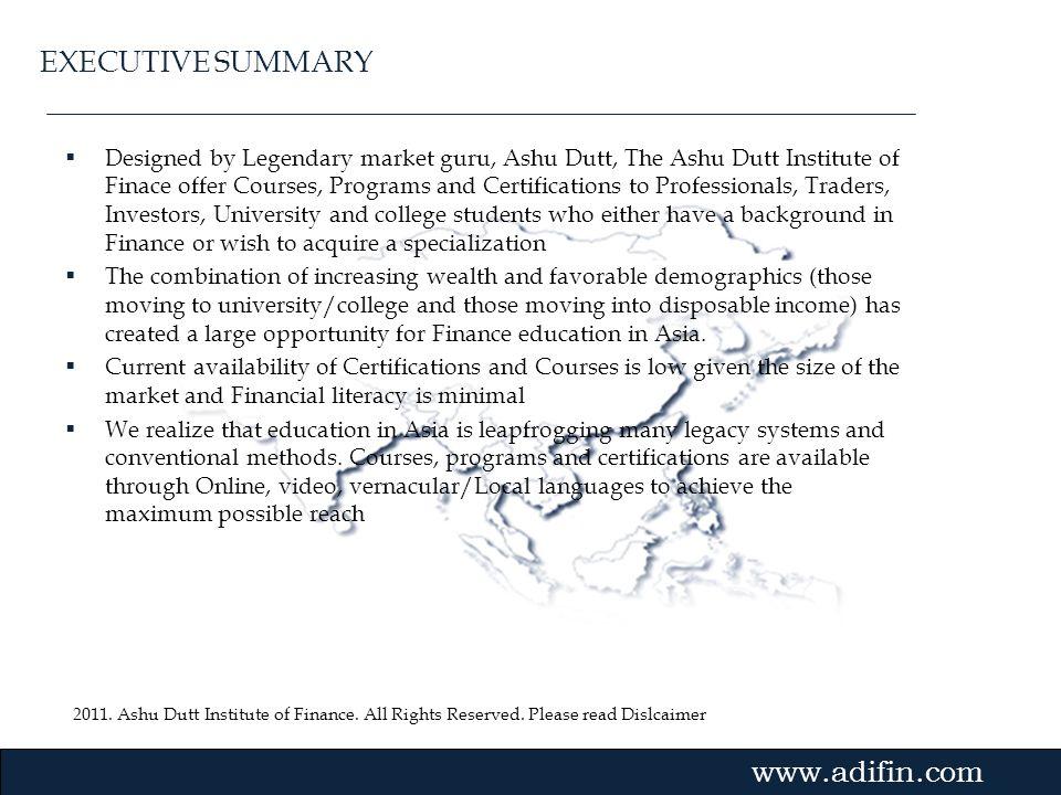 2011. Ashu Dutt Institute of Finance. All Rights Reserved. Please read Dislcaimer Gvmk,bj. Designed by Legendary market guru, Ashu Dutt, The Ashu Dutt