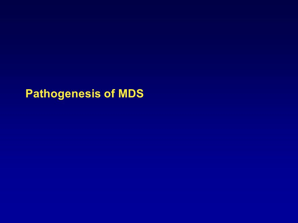 Pathogenesis of MDS