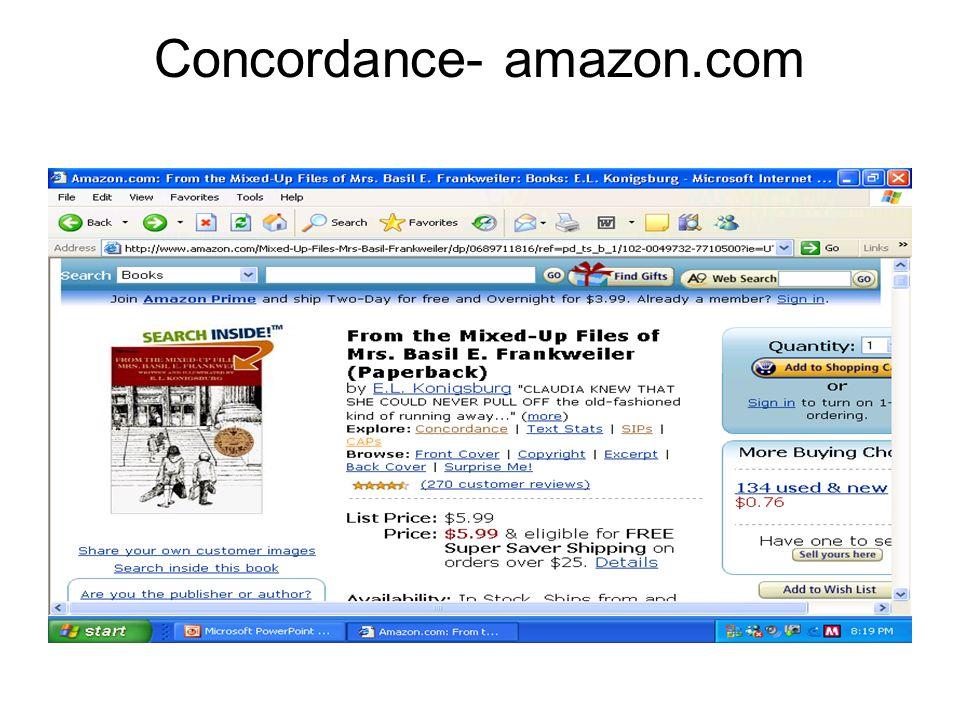 Concordance- amazon.com