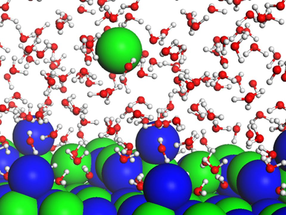 Recall from Ionic Bonding… The partially positive hydrogens of the water molecules attract and pull away the negative chloride ions. The partially neg