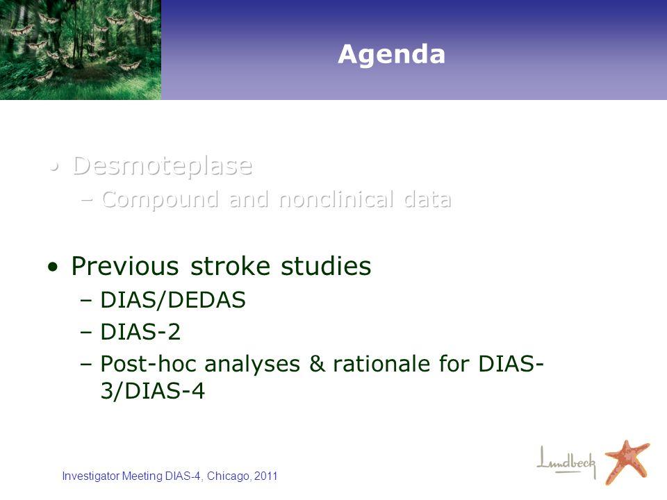 Investigator Meeting DIAS-4, Chicago, 2011 Agenda