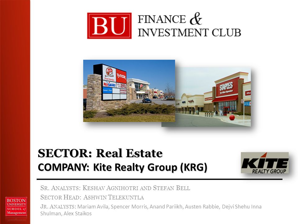 SECTOR: Real Estate COMPANY: Kite Realty Group (KRG) S R.