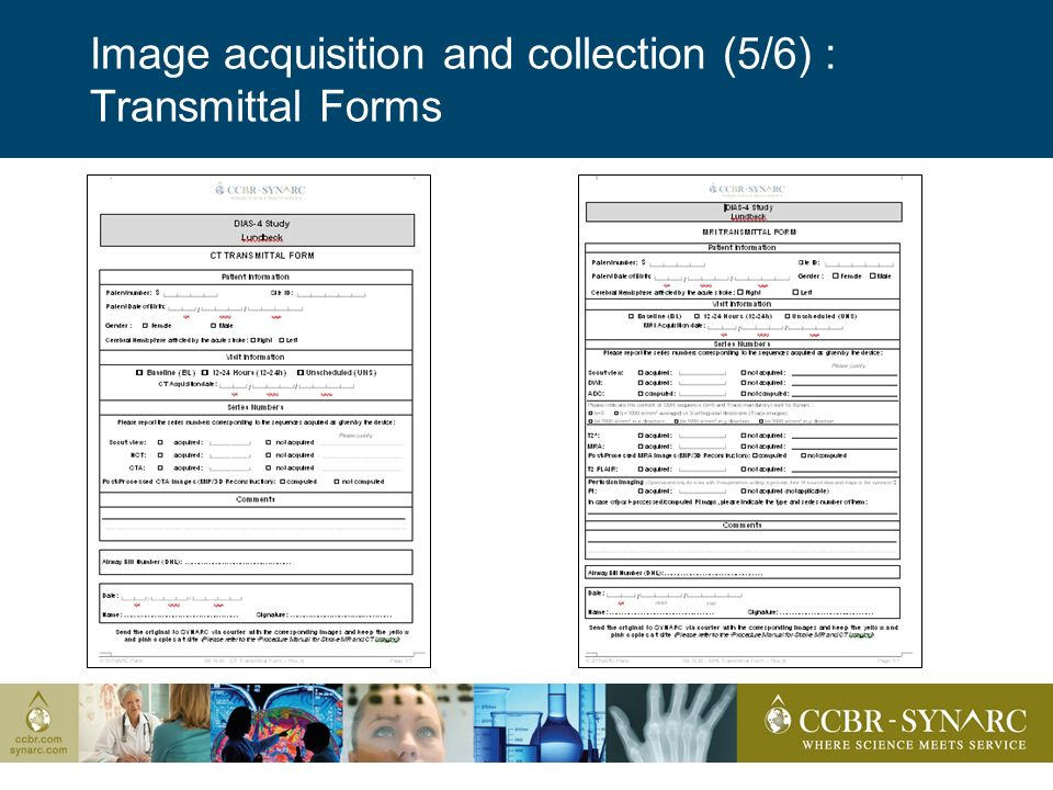 Image acquisition and collection (5/6) : Transmittal Forms