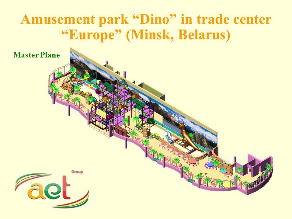Amusement park Dino in trade center Europe (Minsk, Belarus) Master Plane