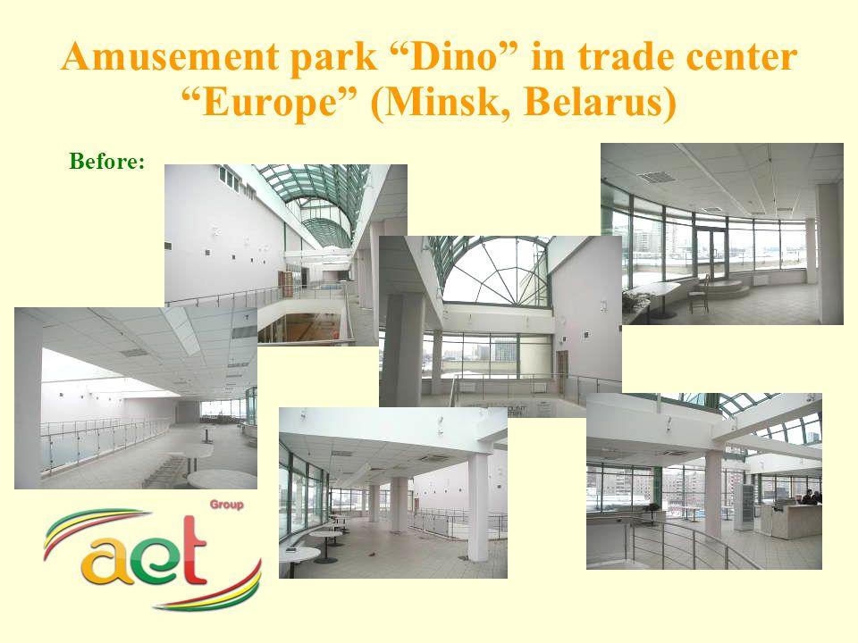 Amusement park Dino in trade center Europe (Minsk, Belarus) Before: