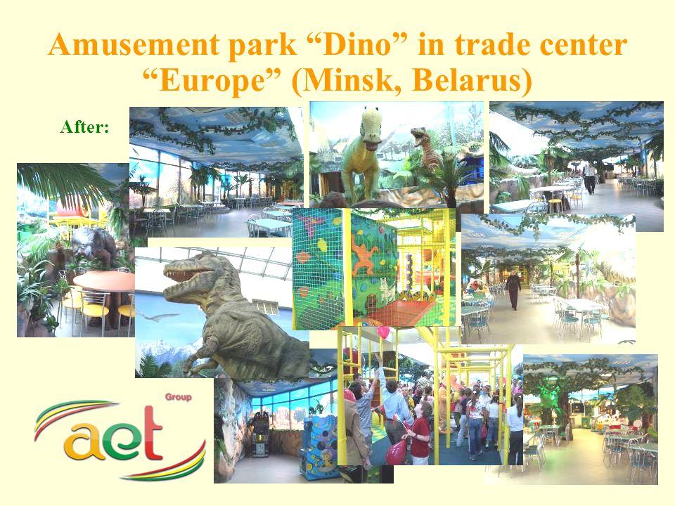 Amusement park Dino in trade center Europe (Minsk, Belarus) After:
