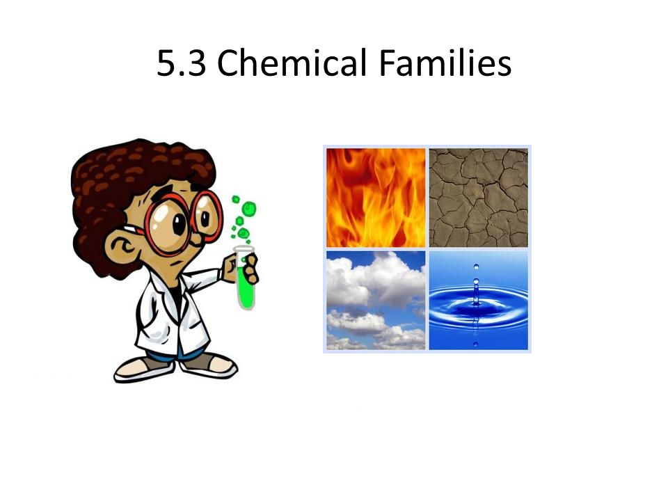 5.3 Chemical Families