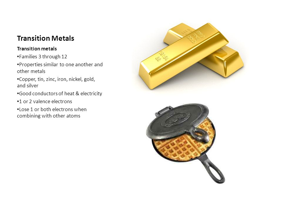 From Metals to Nonmetals Boron Family 3 valence electons Boron is a metalloid Other elements, including aluminum, are metals Boron is hard and brittle Aluminum is 3 rd most abundant metal in Earths crust