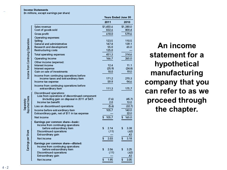 4 - 33 Direct and Indirect Methods of Reporting Two Formats for Reporting Operating Activities Reports the cash effects of each operating activity Direct Method Starts with accrual net income and converts to cash basis Indirect Method
