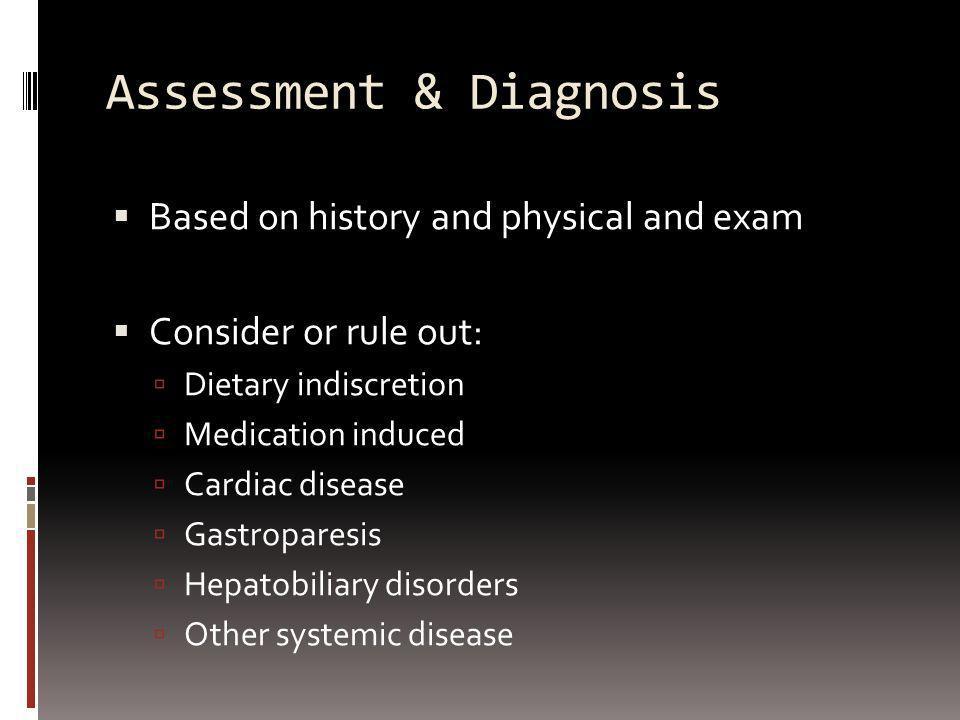 4 Major Causes: Chronic peptic ulcer disease Gastroesophageal reflux (+/- esophagitis) Functional dyspepsia (NUD) Malignancy