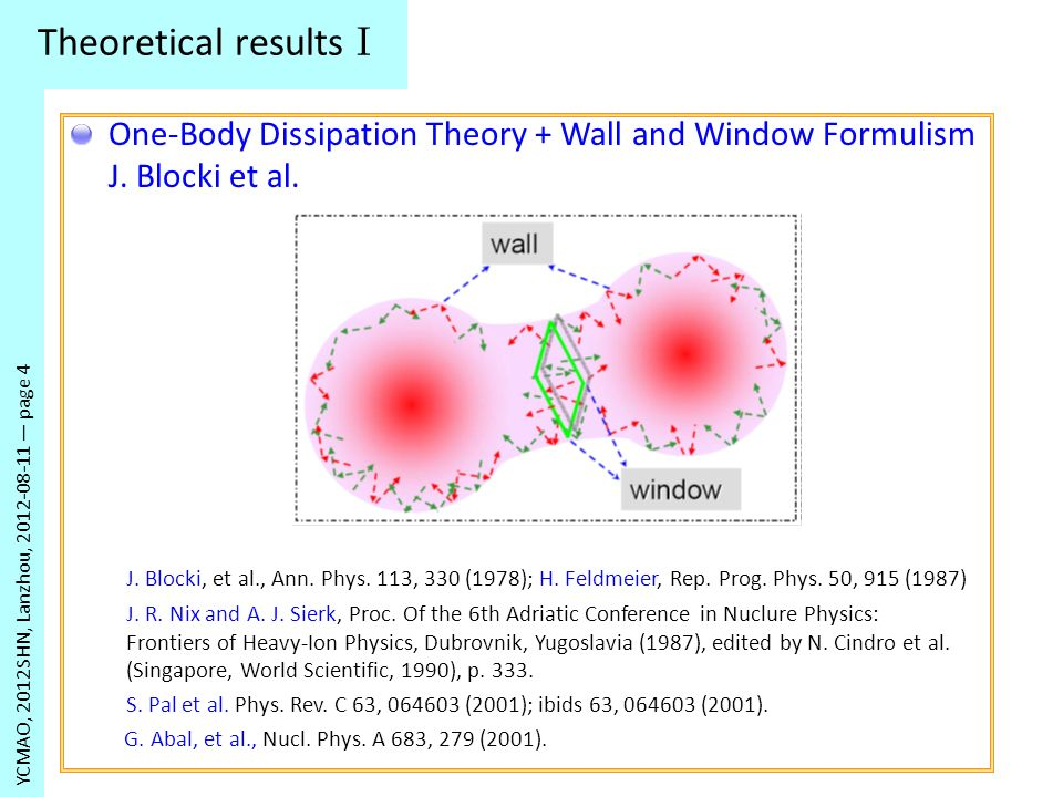 Theoretical results II YCMAO, 2012SHN, Lanzhou, 2012-08-11 page 5 H.